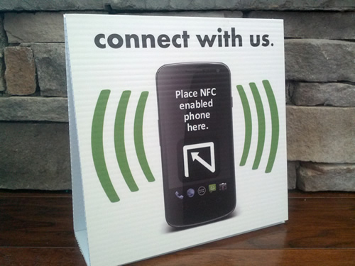 Request your free NFC enabled sign